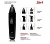 Тример акумуляторний машинка для стрижки волосся, гоління бороди носа вух 3 в 1 Rozia HD-105, фото 2