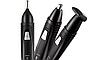 Тример акумуляторний машинка для стрижки волосся, гоління бороди носа вух 3 в 1 Rozia HD-105, фото 5