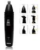 Тример акумуляторний машинка для стрижки волосся, гоління бороди носа вух 3 в 1 Rozia HD-105, фото 3