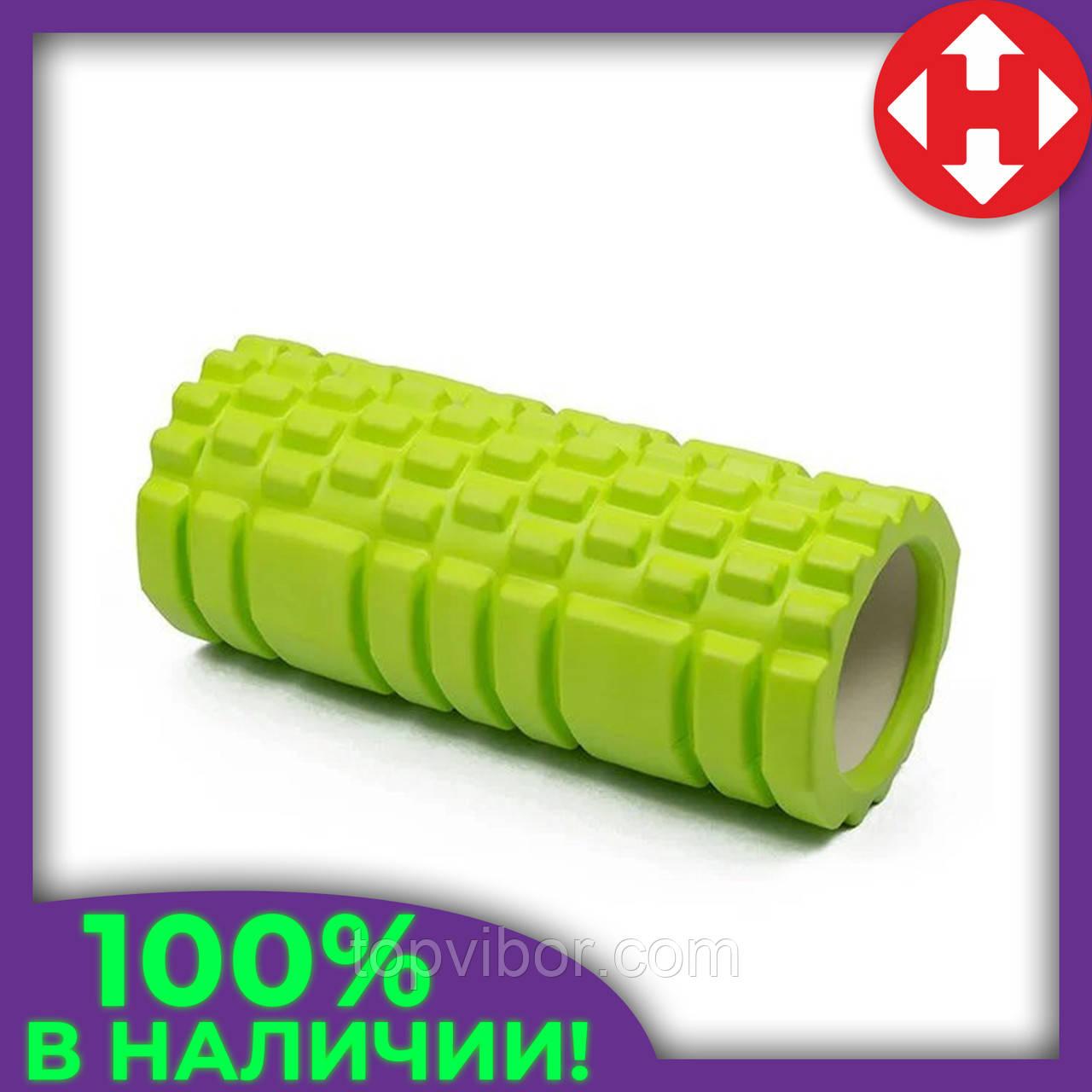 Роллер для массажа спины и разминки мышц, Зеленый с большими секциями, массажный валик/ролик для фитнеса/йоги