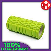 Ролер для масажу спини і розминки м'язів, Зелений з великими секціями, масажний валик/ролик для фітнесу/йоги