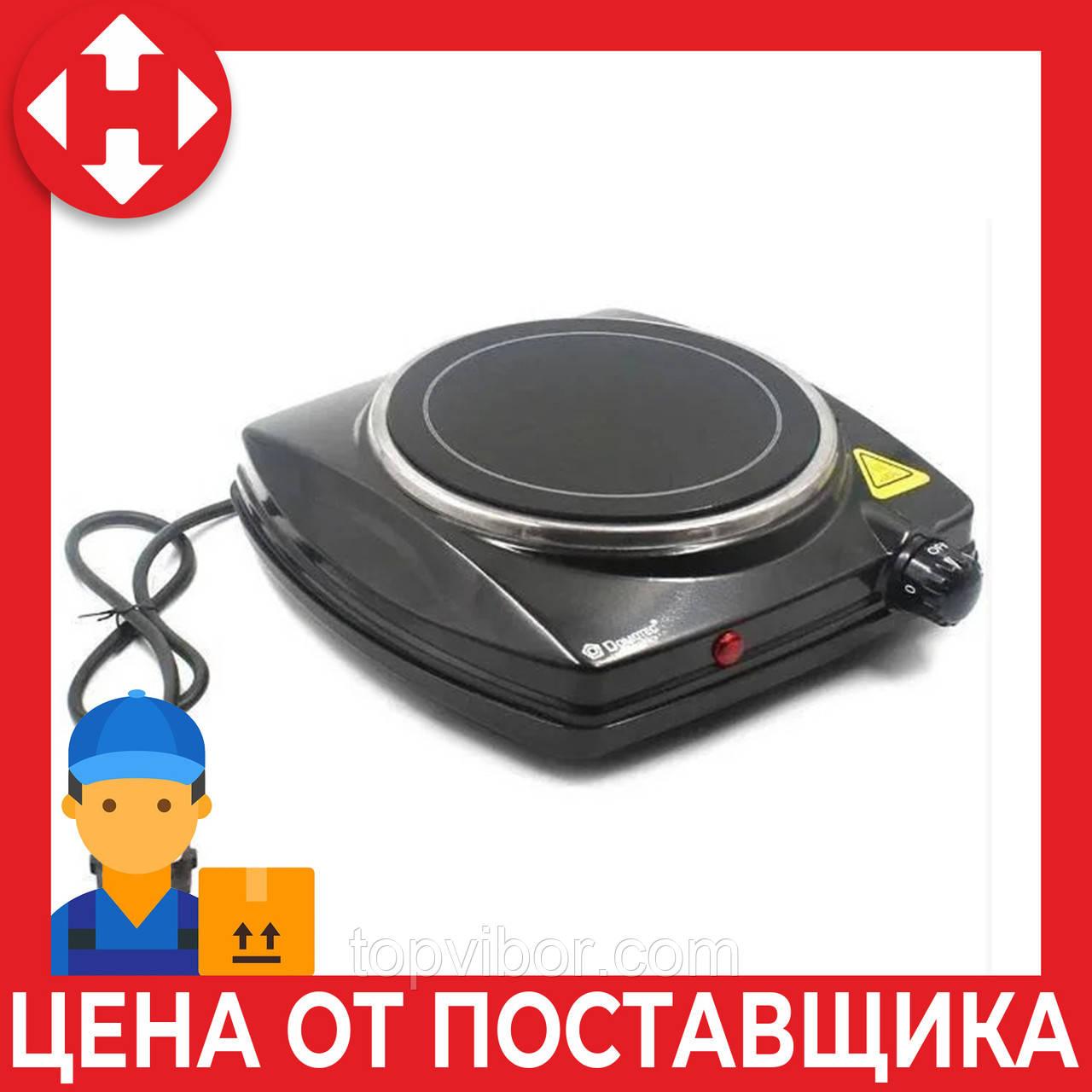 Настольная одноконфорочная электрическая плита Domotec MS-5851, маленькая переносная электроплитка