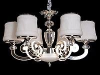 Классическая люстра со светящимися рожками Diasha 8368/5 хром