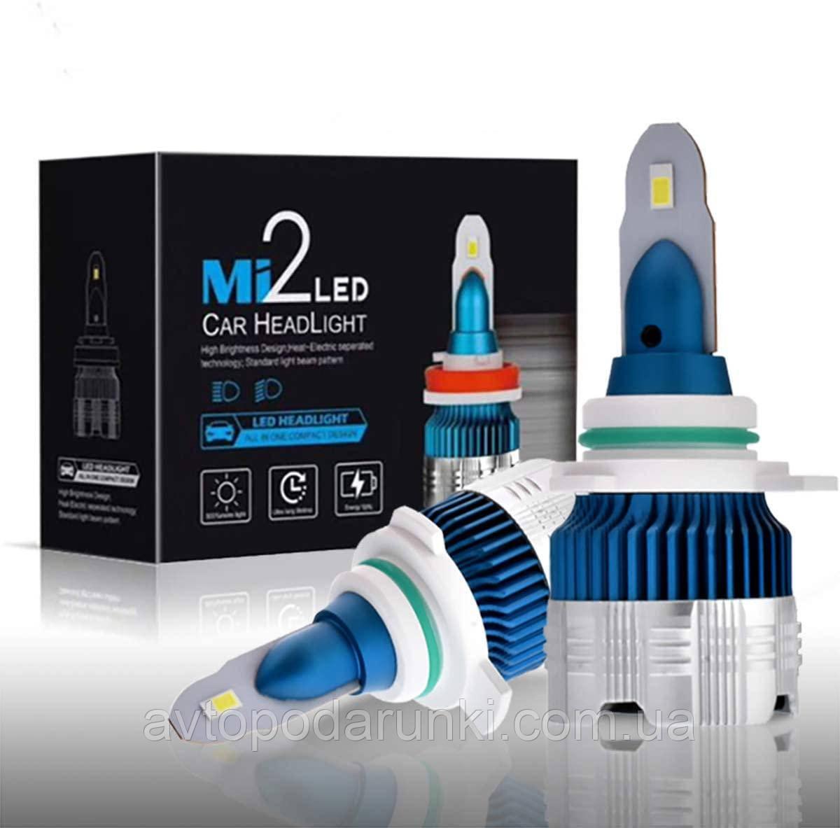 Автомобильные светодиодные LED лампы HeadLight  Mi2 56Вт 6000Лм 6000К 9-16v 5530 CSP чип Цоколь HB4