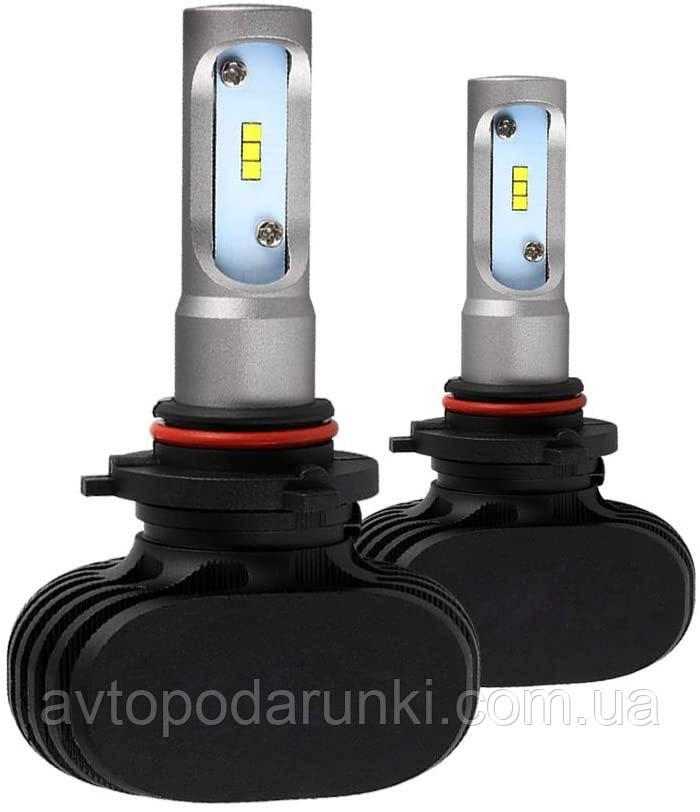 Автомобильные светодиодные LED лампы HeadLight  S1 50Вт 8000Лм 6500К 9-32v COB Цоколь HB4 (9006)