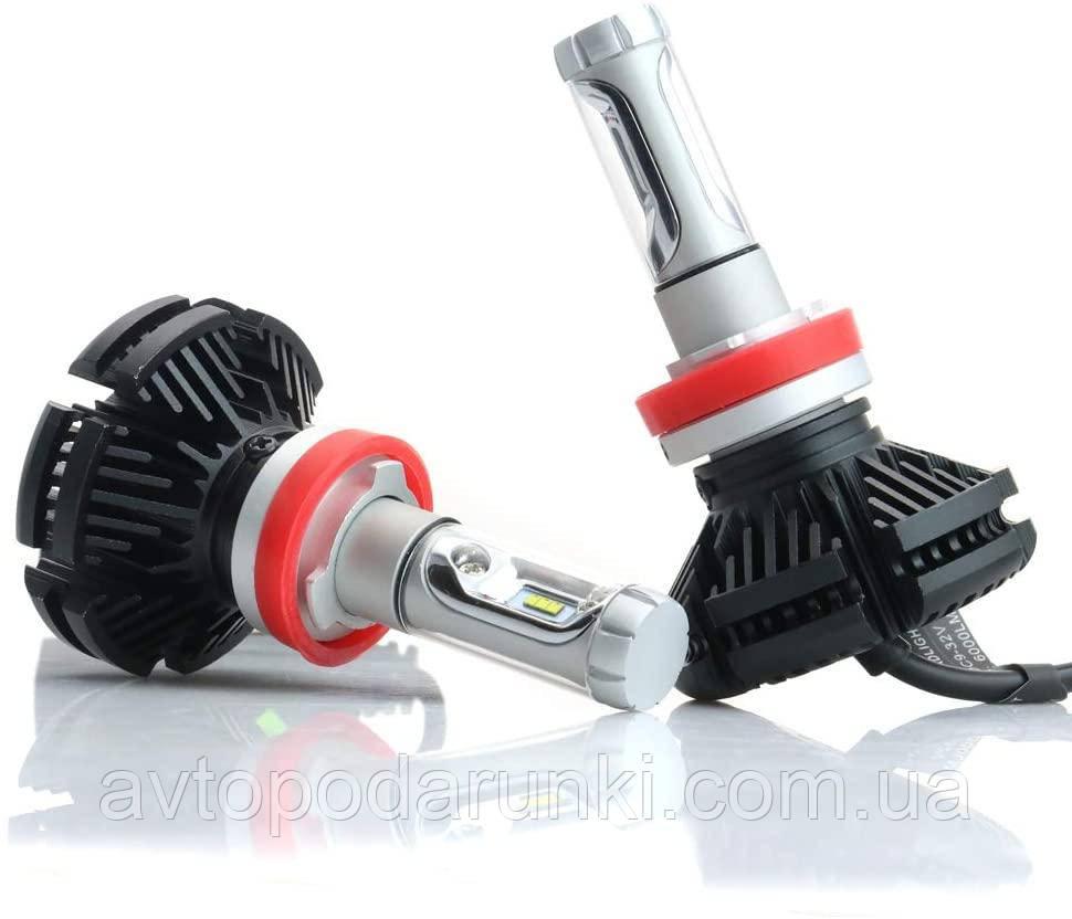 Автомобильные светодиодные LED лампы X3 HeadLight  50Вт 6000Лм 6500К 12v Цоколь H11