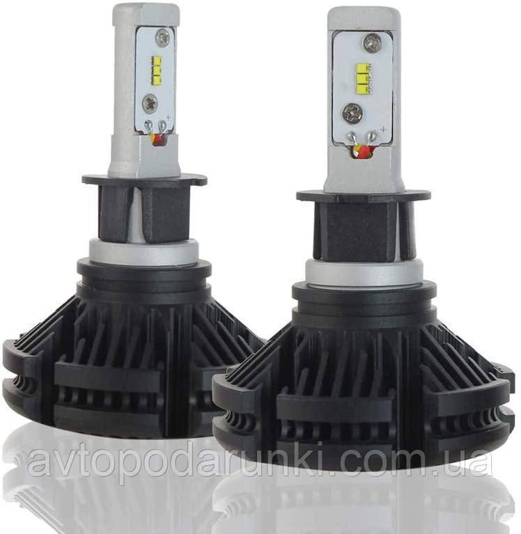 Автомобильные светодиодные LED лампы X3 HeadLight  50Вт 6000Лм 6500К 12v Цоколь H3