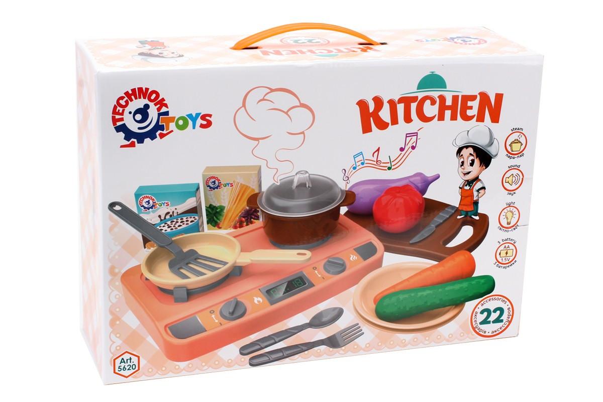 Детская интерактивная кухня ТехноК с паром арт.5620