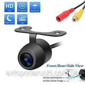 Камера заднего вида с разметкой БАБОЧКА,  универсальная автомобильная камера заднего обзора ( парковочные