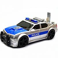 Машинка игровая автопром «Полиция» серебряная, 19х8х7 см, пластик (свет, звук) 7916ABC, фото 3