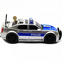 Машинка игровая автопром «Полиция» серебряная, 19х8х7 см, пластик (свет, звук) 7916ABC, фото 4
