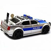 Машинка игровая автопром «Полиция» серебряная, 19х8х7 см, пластик (свет, звук) 7916ABC, фото 5