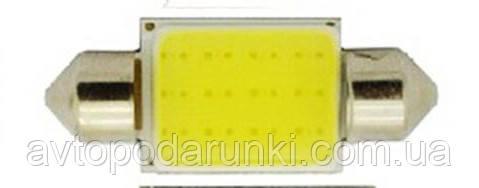 LED лампа с цоколем C5W HL95 (36мм, 9V-12V, БЕЛАЯ),  в плафон подсветки салона, багажника, номера, дверей / 1шт