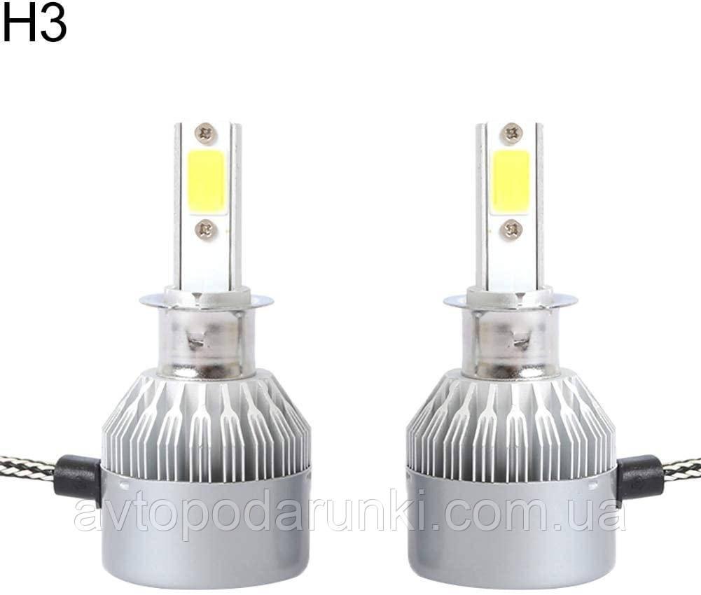 Автомобильные светодиодные LED лампы HeadLight  C6 72Вт 7600Лм 6500К 8-48v COB Цоколь H3