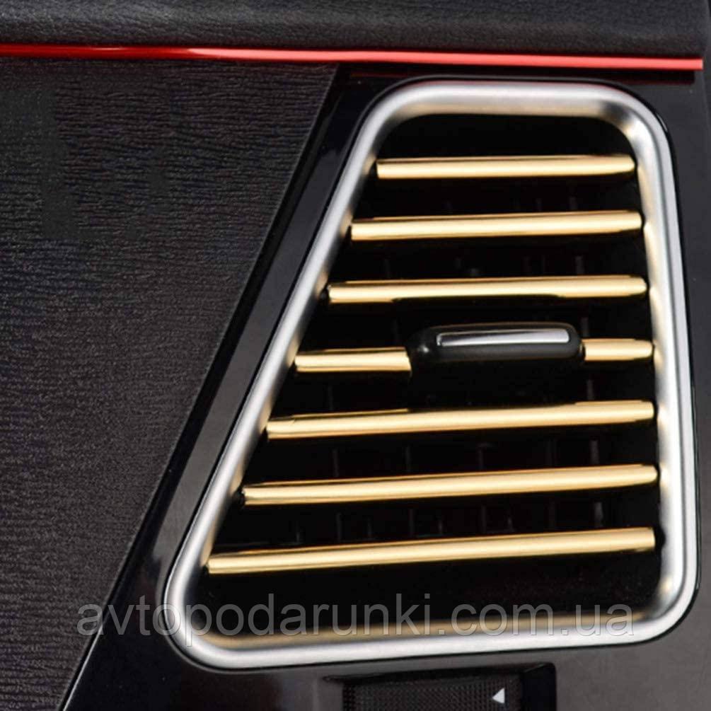"""Молдинг - полоса для решетки воздуховода  (дифлектора, вентиляции) """"MAKE UP HOLDER II AD-0834"""" /комплект 10шт"""