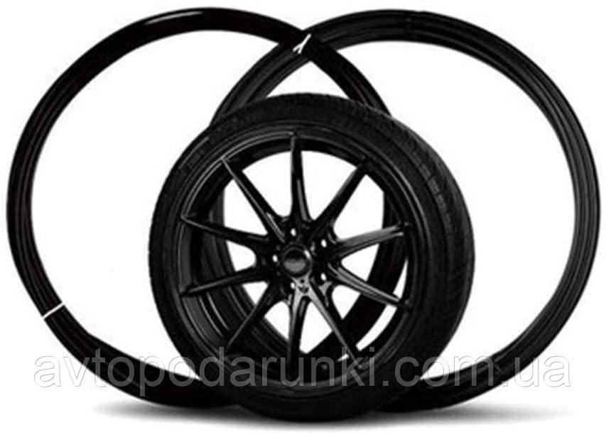 Молдинг усиленный на литые диски MEI LUN BAO/  сменный элемент декора / Черный / 8,15м