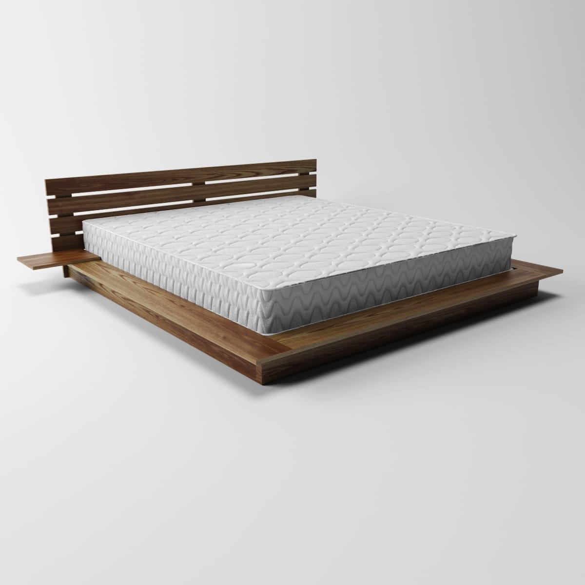 Кровать деревянная односпальная Акко (массив ясеня)