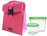 Термосумка для обеда с судочками Organize розовый LBag-Pink SKL34-176274