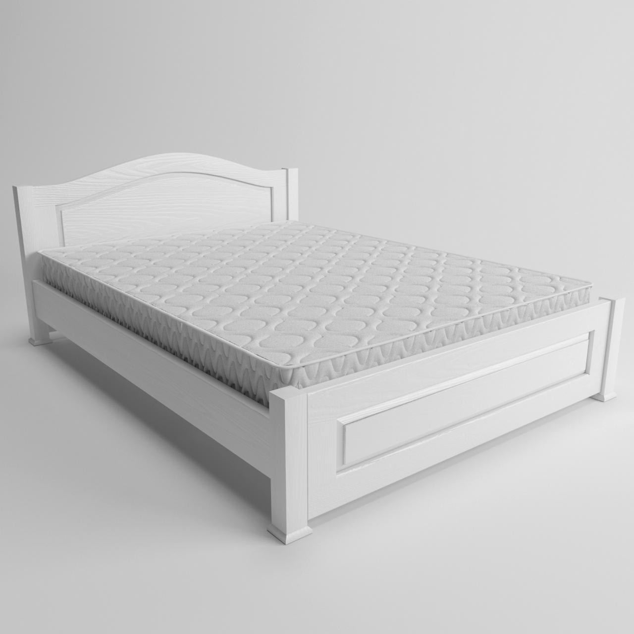 Ліжко дерев'яне Венеція односпальне (масив ясеня)