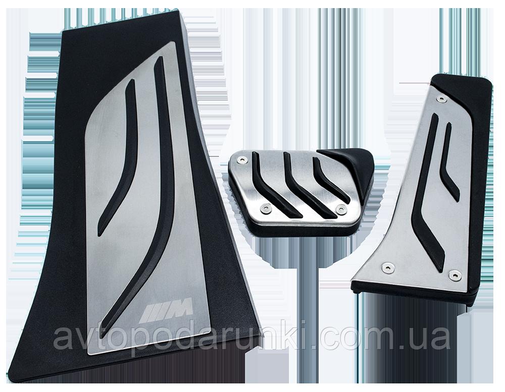 Накладки на педали BMW M-Performance X5, X6 серии  АКПП (реплика, без сверления)