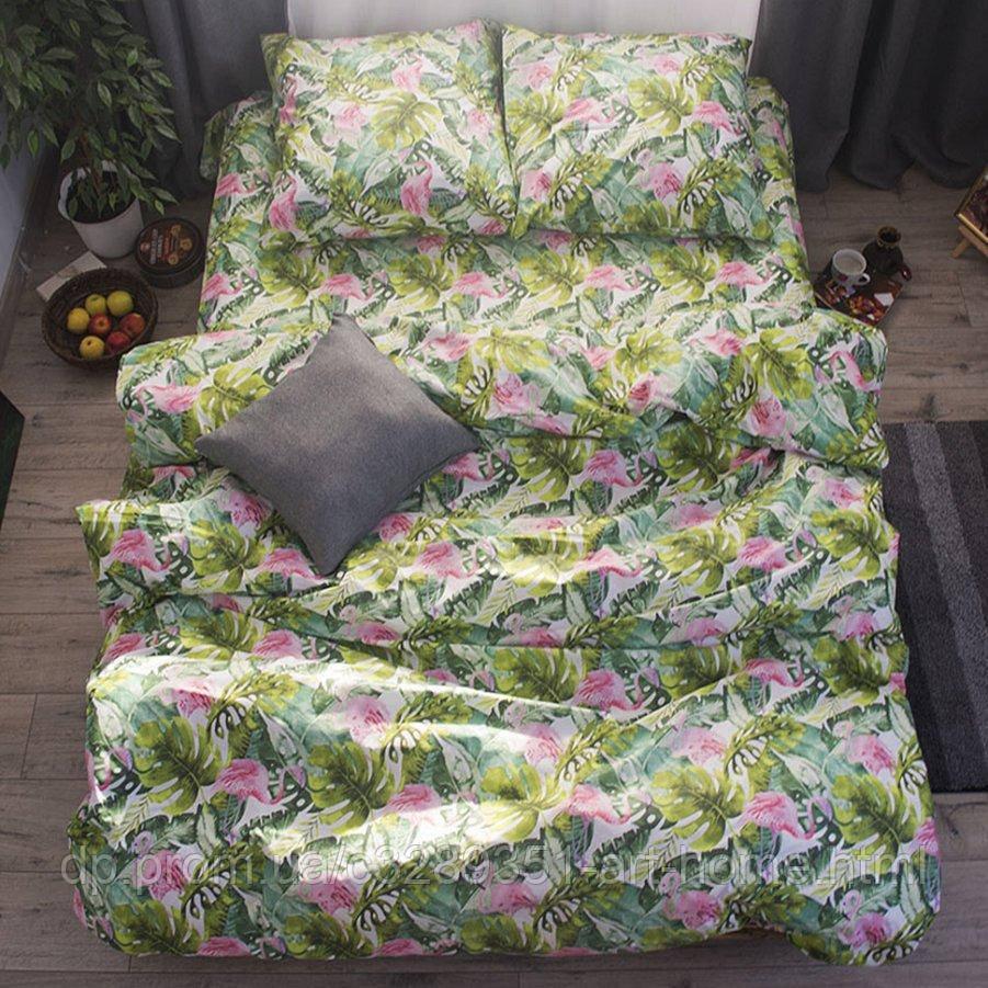 Двуспальное постельное белье Бязь Gold - Тропикано