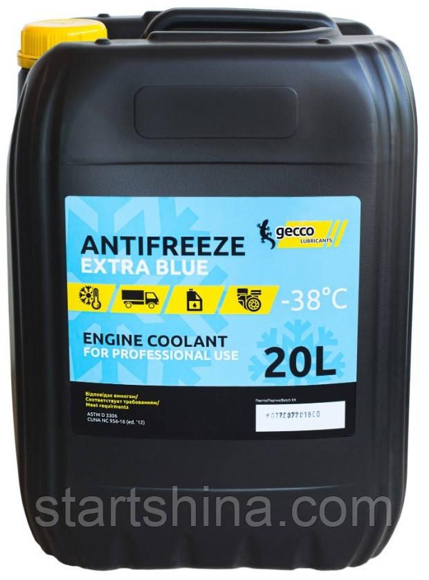 Gecco lubricants Antifreeze Extra Blue (20л) Антифриз готовый -38°C