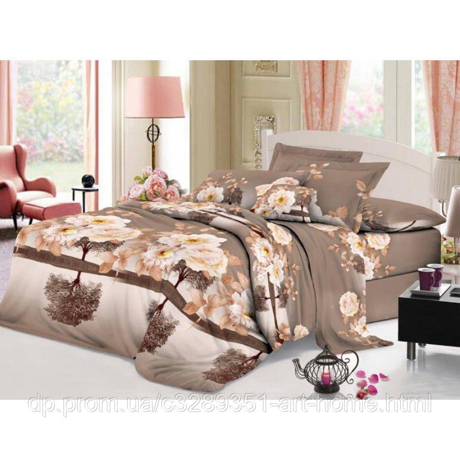 Двуспальное постельное белье София 3D (микросатин) - Чайное дерево