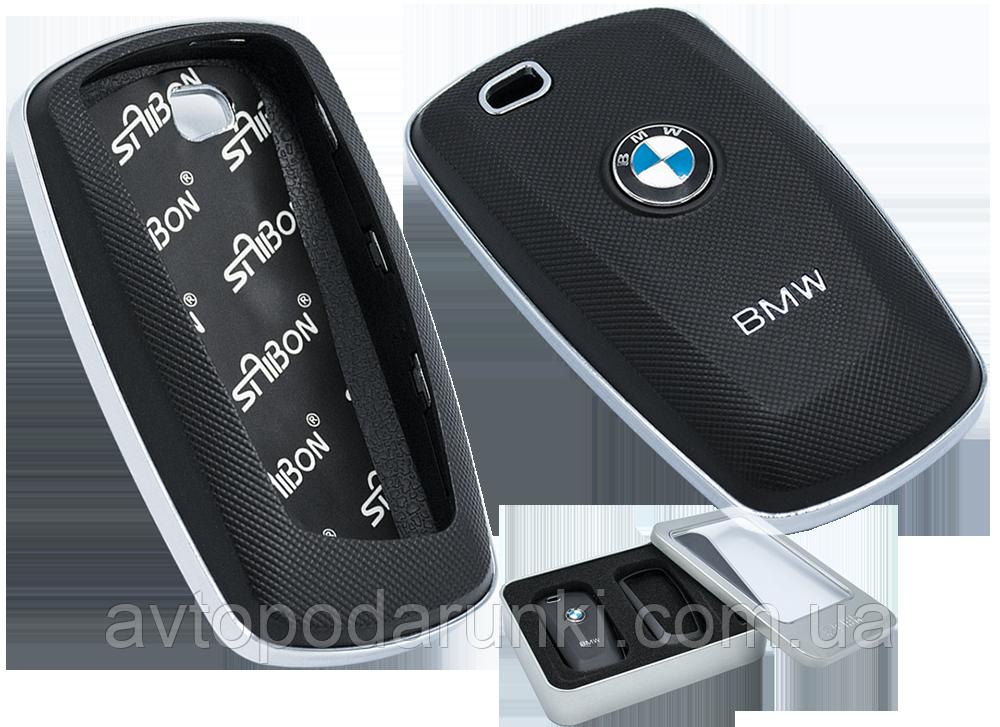 """Защитный корпус для ключа """"BMW"""" (02) пластик  чёрный 10577 IDV"""
