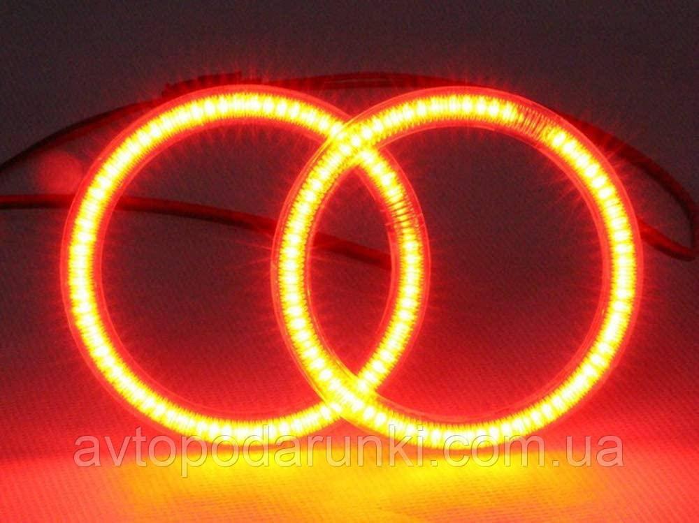 Светодиодные ангельские глазки COB 100 КРАСНЫЕ  (диаметр 88мм/103мм)