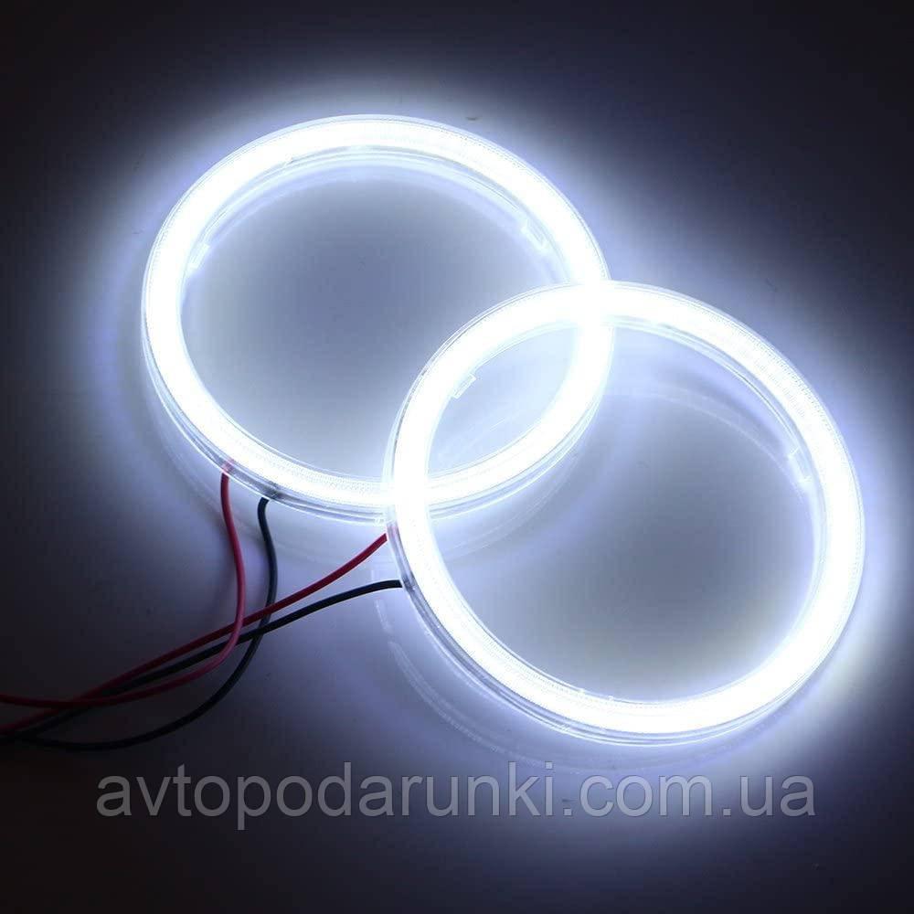 Светодиодные ангельские глазки COB 80 БЕЛЫЕ  (диаметр 68мм/83мм) для линз 2,5 дюйма