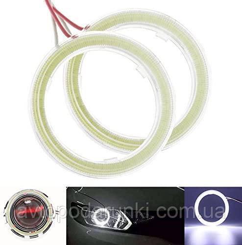 Светодиодные ангельские глазки COB 90 БЕЛЫЕ  (диаметр 78мм/93мм) для линз и фар