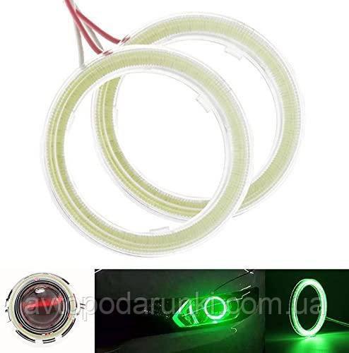 Светодиодные ангельские глазки COB 90 ЗЕЛЕНЫЕ  (диаметр 78мм/93мм) для линз и фар