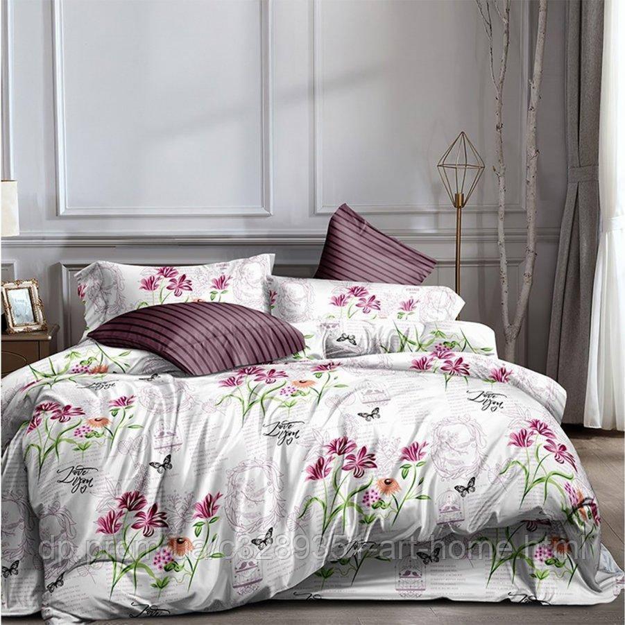 Двуспальное постельное белье Бязь Ranforse (100% хлопок) - Пустнынный цветок