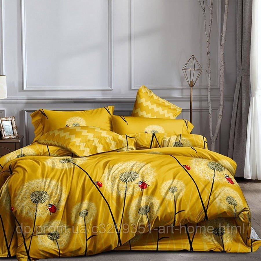 Полуторное постельное белье Бязь Ranforse (100% хлопок) - Ромашковое поле