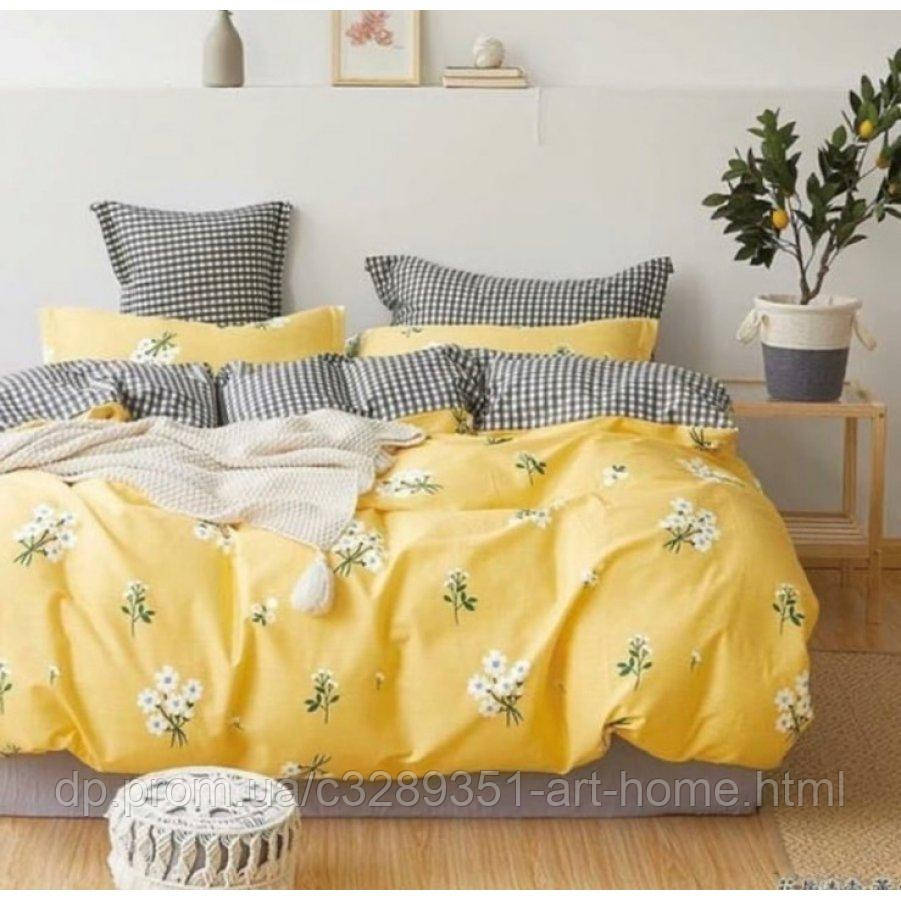 Евро постельное белье Бязь Ranforse (100% хлопок) - Ромашковое поле