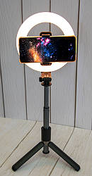 Штатив - монопод з кільцевою лед лампою для телефону Selfie Stick L07 16см Селфі палка з підсвіткою