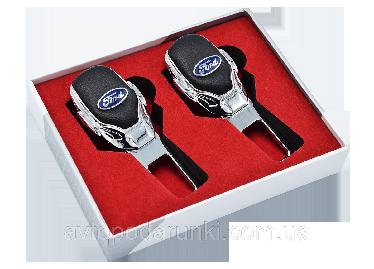 Заглушки ремней безопасности с логотипом  FORD (Premium) / 2шт
