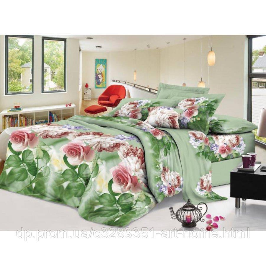 Двуспальное постельное белье София 3D (микросатин) - Лесной сад