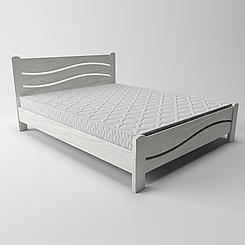 Кровать деревянная односпальная Женева (массив ясеня)
