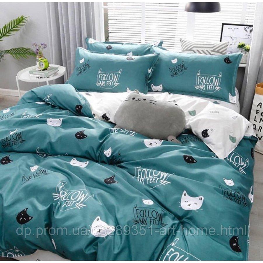 Полуторное постельное белье Бязь Ranforse (100% хлопок) - Киттикет