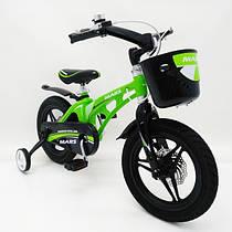 Детский алюминиевый велосипед MARS 14 дюймов зеленый