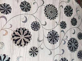 Серебристо-черные цветы