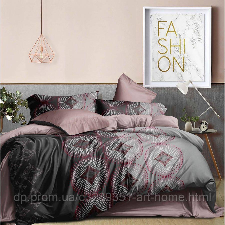 Двуспальное постельное белье Бязь Ranforse (100% хлопок) - Пиксель