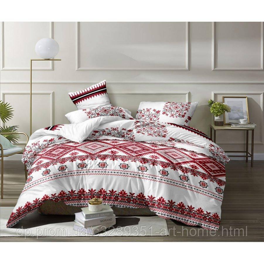Полуторное постельное белье Бязь Ranforse (100% хлопок) - Красавица украиночка