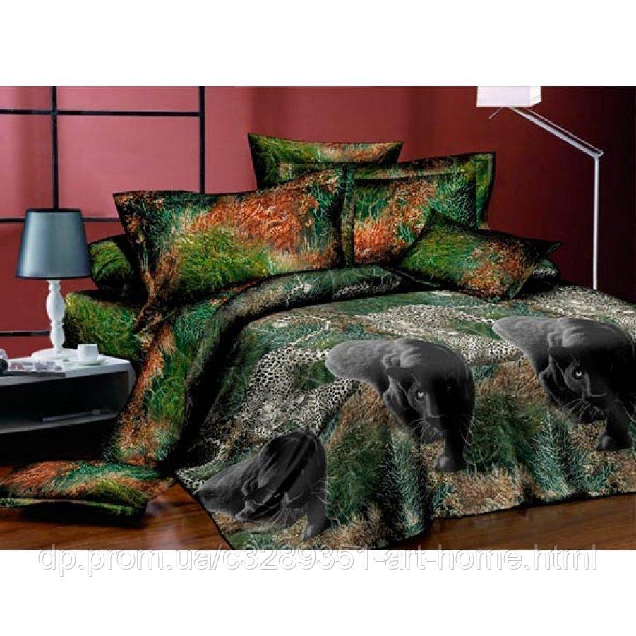Полуторное постельное белье Бязь Ranforse (100% хлопок) - Пантера