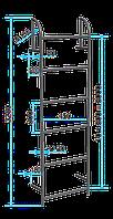 Стальная стремянка для колодцев С-1