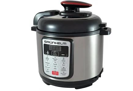 Мультиварка-скороварка Grunhelm MРC-15B - 4 л, 900 Вт, 13 автоматичних програм, антипригар.покриття