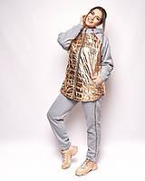 Женский костюм куртка и брюки большой размер, фото 1