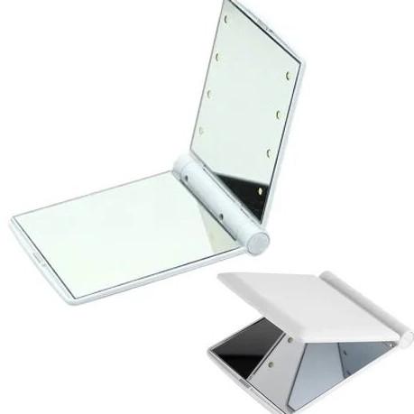 Мини-зеркало с подсветкой 8 Led Белое