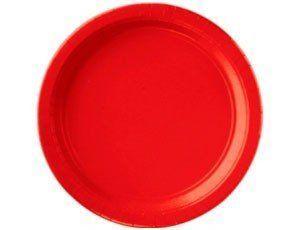 """Тарілки паперові стиль """"Однотонний"""", червоні, 8 шт, 17 см, Набор тарелок """"Красный"""""""